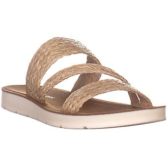 Madden Girl Womens Press Fabric Open Toe Casual Slide Sandals