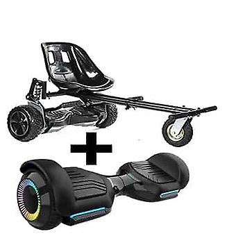 """NEW - 6.5"""" G PRO Black Bluetooth Hoverboard with LED Wheels with FREE Go Monster Hoverkart Bundle - Choose Your Colour (Choose Colour Monsterkart: Bla"""