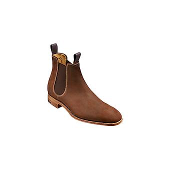 Barker Mansfield - Brown Waxy Suede - 12 | Mens Handmade Leather Chelsea Boots | Barker Shoes