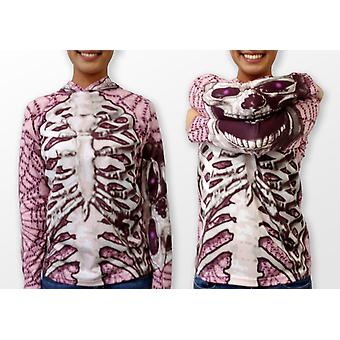 Skeleton In Pink Hoodie Chomp Shirt By Mouthman®