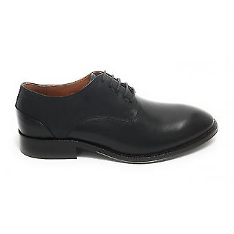 Men's Shoe Ambitious 11082 Francesina Lace-up In Leather Blue Navy Us21am20