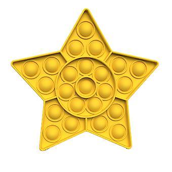 Pentagram kształt Push Doll Bubble Sensory Fidget Rozpakuj zabawki