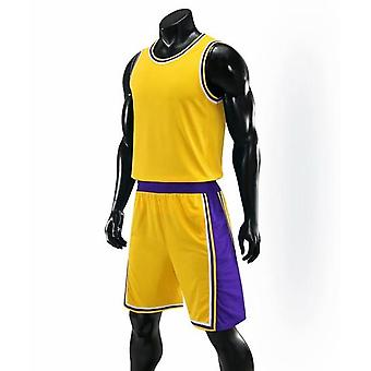 Kids Adult Basketball Jersey Set - Basketball Uniforms Goal Throw Training Vest