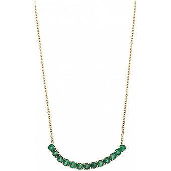 Mark Milton smaragd födelsesten halsband - grön / guld