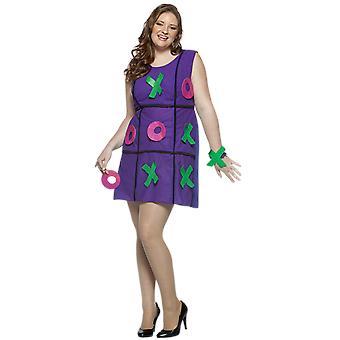 Mujeres ceros y cruces más tamaño juego novedad divertido disfraz