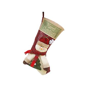 Large Christmas Stockings Snowman Hanging Ornament