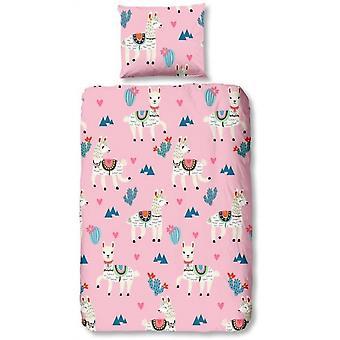 bed cover Lama junior 135x200 cm pink
