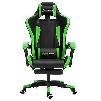 Ergonomische gaming stoel met race auto stijl Groen