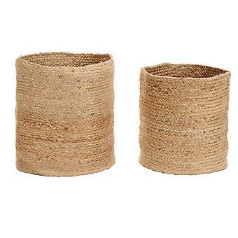 vidaXL Storage basket set 2-pcs. Handmade Jute Nature