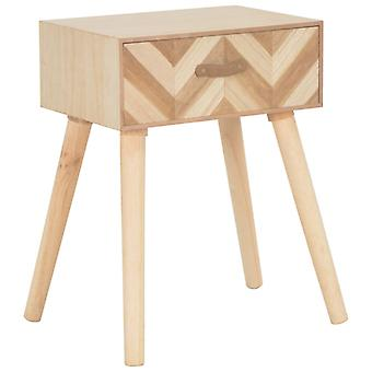 vidaXL bedside table with drawer 44×30×58 cm solid wood