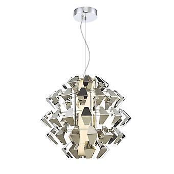 Pendant Light Suspension Chrome 35w LED, 1x LED