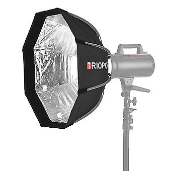 55Cm foldable 8-pole octagon softbox with soft cloth carrying bag bowens mount for studio strobe flash light