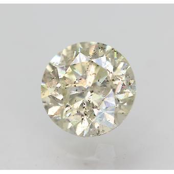 Sertifioitu 0,80 karat K SI2 pyöreä brilliant parannettu luonnollinen löysä timantti 5,72mm