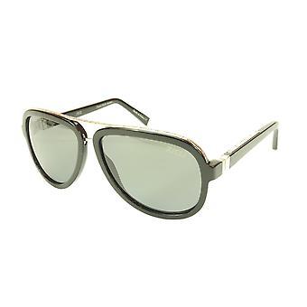 ZILLI Sunglasses Polarized Hand Made Acetate Titanium Black France ZI 65003 C03