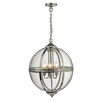 DAR VANESSA Hanglamp Gepolijst Nikkel En Helder, 5x E14