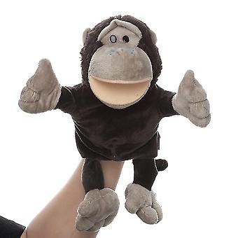 Orang-oetan handpoppen dierlijk speelgoed voor fantasierijk spel, verhalen vertellen, lesgeven, rollenspel