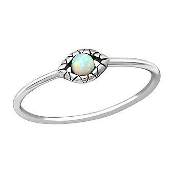 Evil Eye - 925 Sterling Silver Jewelled Rings - W38544x