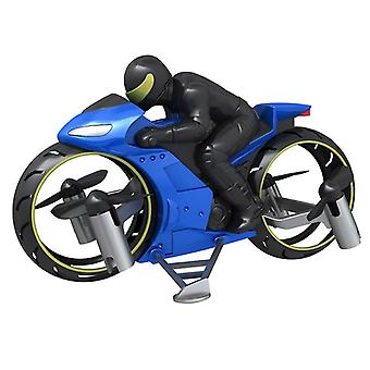 RC Motorcycle Amphibious Remote Control Four Axle UAV One Key Roll Aircraft Model Motorcycles(Blue)