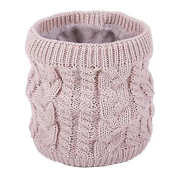 Écharpe rose chaude en hivertou-match écharpe tricotée pour couples couleurpure plus écharpe en velours x4081