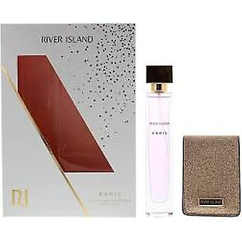 River Island Paris Gift Set 75ml EDT + Compact Mirror