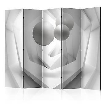 5-teiliges Paravent - White Imagination II [Room Dividers]