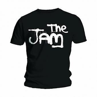 The Jam Spray Logo Black Mens T Shirt: Medium