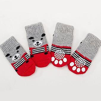 Small Dogs Cotton Anti-slip Cat Shoes Socks