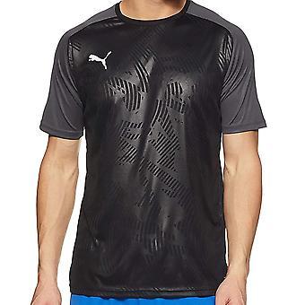 Puma Cup Mens Short Sleeve Football Training Sports T-Shirt Tee Black