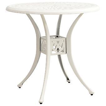 vidaXL Garden Table White 78x78x72 cm Cast Aluminum