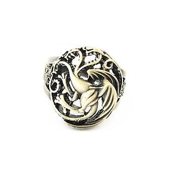 Game Of Thrones Anime Ring Movie Collection Alloy Finger Ring Golden