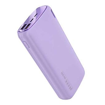 Kuulaa Powerbank 20.000mAh - 2.1A with 2 USB Ports - External Emergency Battery Charger Charger Purple
