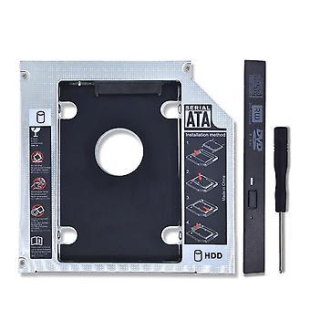 Hliníkový hdd caddy, skříň pevného disku Sata, pouzdro na adaptér DVD