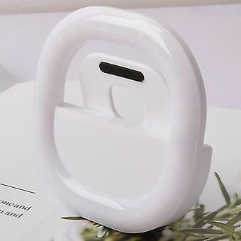 (Wit) Draagbare selfie LED licht ring vullen clip op camera flitser voor iPhone mobiele telefoon