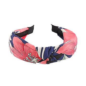 6PCS Korean Headwear Women's Printed Fabric Knot Headbands Knotted Hairband for Women Hair