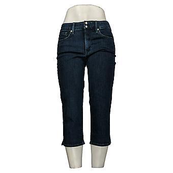 NYDJ Kvinners Jeans Petite Cool Embrace Skinny Crop Blue A377692