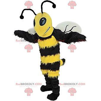Maskottchen REDBROKOLY.COM schwarz-gelber Hummel, Verkleidung der Riesigen Wespe