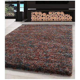 Shaggy Carpet Living Room Carpet Long Pile High Pile Colorful Blue Terra Beige Mottled