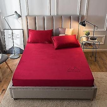 Flannel Elastic Fitted Queen/king Size Soft Drap De Lit For Winter Warm Crystal