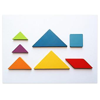 3D wooden pattern animal jigsaw puzzle colorful tangram toy kids montessori early education sorting games toys children gift