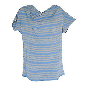 טריומף הגוף איפור SSL 03 שרוול קצר חולצת טריקו כחול עליון