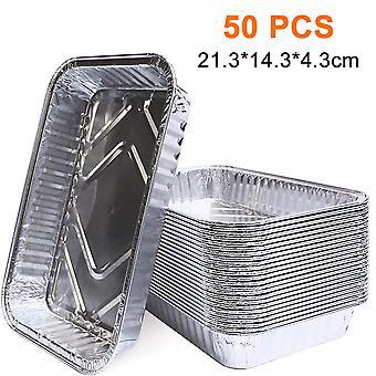 Eldobható fóliatálcák Alumínium 21,3*14,3*4,3cm (25 csomag)