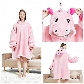 voksen unisex dyr hette pyjamas kappe kostyme