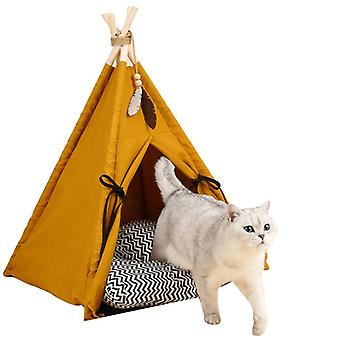 Pet Tent Sunset Yellow Cat Litter Pet House Fermé Four Seasons Universal Amovible