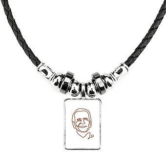 Americký prezident Biden Art Profile náhrdelník