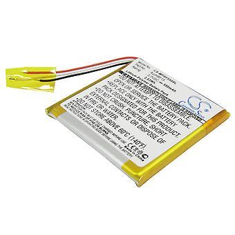 Battery for SanDisk Sansa Fuze 4GB 8GB 8JJH8F15 MP3 Player CS-MPSF350SL 550mAh
