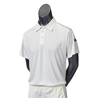 Gunn & Moore GM Cricket Maestro Mens Shirt Short Sleeve Sports Cream-XXX-Large