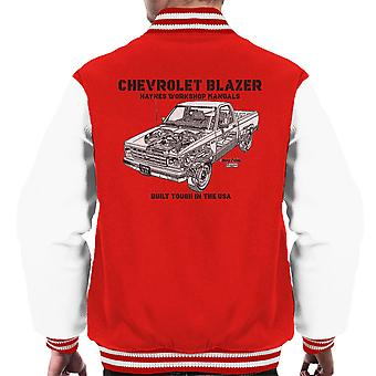 Haynes Owners Workshop Manual Chevrolet Blazer Black Men's Varsity Jacket