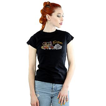 The Flintstones Women's Family Car Distressed T-Shirt
