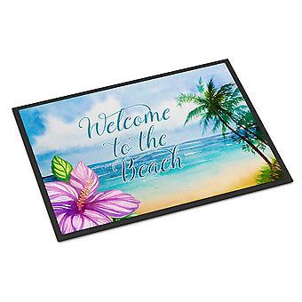キャロラインズ宝物 BB8530JMAT ビーチのシーンを歓迎する屋内または屋外マット 24 × 36