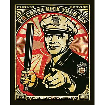Rise Above Cop Obey Poster Print by Shepard Fairey (16 x 20)